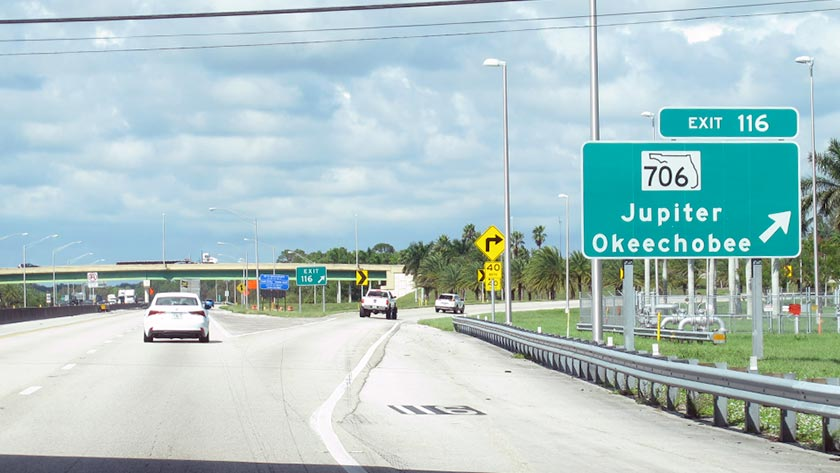 Florida S Turnpike At I 95 Indiantown Road Exit 116 Map Info