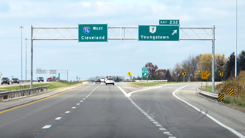 toll roads in ohio map Ohio Turnpike At Youngstown Sr 7 Exit 232 Map Info