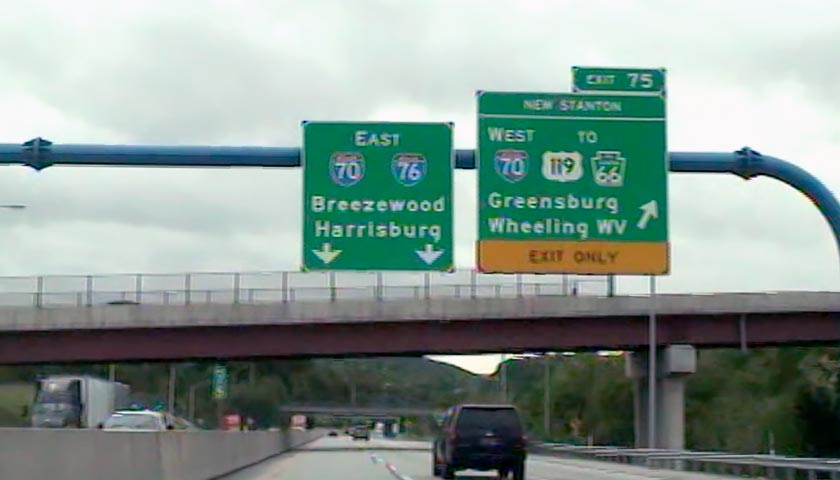 Pennsylvania Turnpike Exit 75 Map & Info
