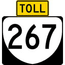 Dulles Toll Road guide marker