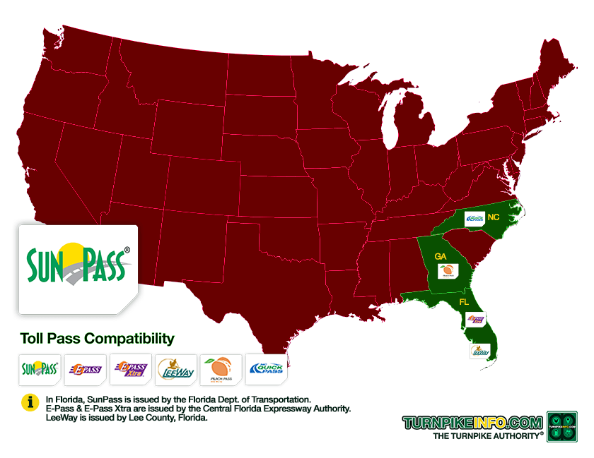 SunPass compatibility map