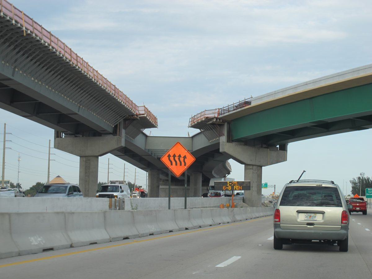 Construction Slows Traffic Along Florida's Turnpike in South Florida