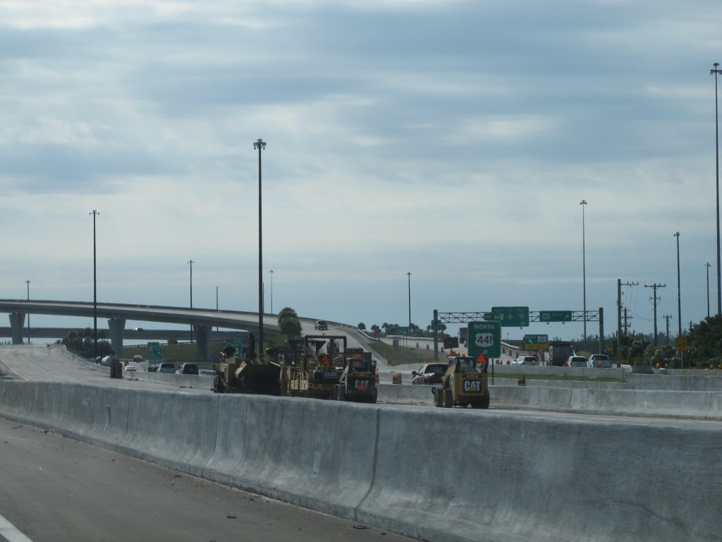 I-595 construction near Florida's Turnpike
