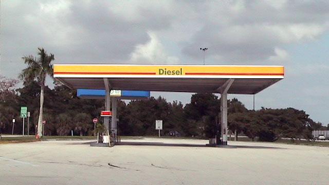 Diesel pumps at the Pompano Beach Service Plaza