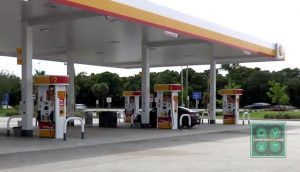 Gas station on Florida's Turnpike