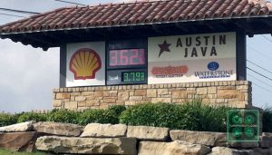 Gas prices on Capital of Texas Hwy. on June 30, 2014