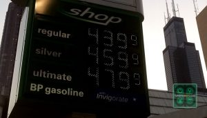 Gas prices in Chicago on July 4, 2014