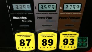 Gas prices near Round Rock, Texas on July 18, 2014