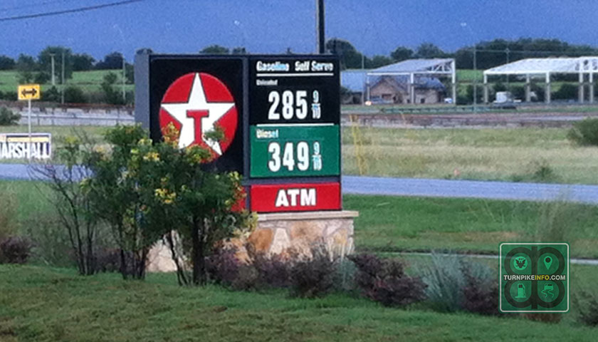 Gas station in Pflugerville, Texas