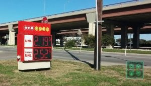 Gas prices in Round Rock, Texas, near Austin. prices have jumped nearly 30¢ in the past month.