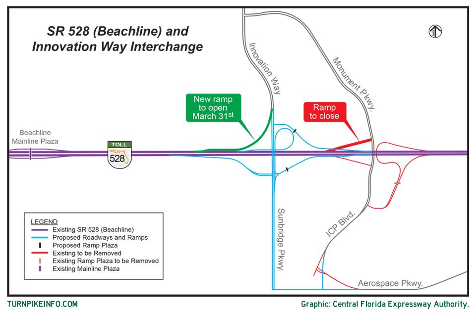 New onramp for Beachline Expressway in Florida